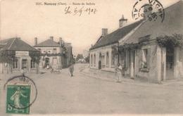 18 Nançay Route De Salbris Cpa Carte Animée Boutiques Commerces Magasin De Bicyclettes Cachet 1907 - Nançay