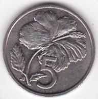 Cook Islands 5 Cents 1992 Elizabeth II Copper-Nickel KM# 33 - Cook