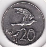 Cook Islands 20 Cents 1992 Elizabeth II Copper-Nickel KM# 35 - Islas Cook