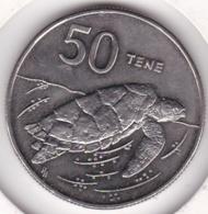 Cook Islands 50 Tene1992 Elizabeth II Copper-Nickel KM# 41 - Cook