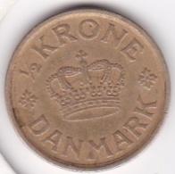 Denmark 1/2 Krone  1925 Christian X Bronze Aluminium KM# 831.1 - Dänemark
