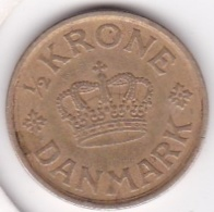 Denmark 1/2 Krone  1925 Christian X Bronze Aluminium KM# 831.1 - Danemark