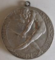 Médaille XII Int Presse Congress – Berlin 1908. Femme Nue Et Ourse - Allemagne
