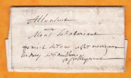 11 Mai 1680 - Lettre Précurseur Pliée Avec Correspondance En Provenance D' Aurillac, Cantal - Règne De Louis XIV - Marcophilie (Lettres)