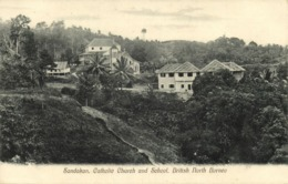 British North Borneo, SABAH SANDAKAN, Catholic Church & School (1910s) Postcard - Malaysia
