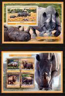 Burkina Faso, 2019. [bf1918] Fauna, Rhinos - Rhinozerosse