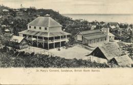 British North Borneo, SABAH SANDAKAN, St. Mary's Convent (1916) Postcard - Malaysia
