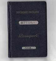 TB 2595 - CASABLANCA 1960 - Timbres Fiscaux Affaires Etrangères 100 & 1000 Francs Sur Passeport Français - Fiscali