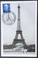 CM95 Carte Maximum 599 Branly Tour Eiffel Radioélectriciens 25ème Anniversaire Paris 2/11/1946 - Maximumkarten
