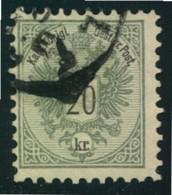 1883, 20 Kr. Wappen Mit Zähnung 10 1/2 Und Teilstempel. Michel Nr. 48 D - 400,- - Usados