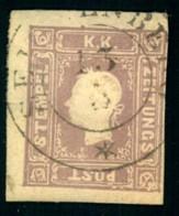 1859, (1,05 Kr.) Lila Zeitungsmarke  Sauber Gestempelt Mit Drei Breiten Rändern. Michel Nr. 17b -  400 - Usados