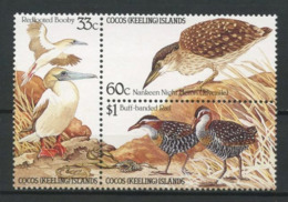 COCOS 1985 N° 131/133 **  Neufs MNH Superbes C 11 € Faune Oiseaux Fous Héron Fauna Animaux - Kokosinseln (Keeling Islands)