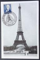 CM96 Carte Maximum 619 Claude Chappe Tour Eiffel Radioélectriciens 25ème Anniversaire Paris 2/11/1946 - Maximumkarten