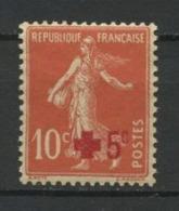 FRANCE 1914  N° 146 ** Neuf  MNH  Superbe  C  7,50 € + Beau Centrage Croix Rouge Red Cross Semeuse Fond Plein - France