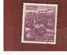 BHUTAN  -  SG 252 - 1971 WANGDIPHONDRANG DZONG & BRIDGE   - USED - Bhutan