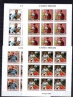 9x Sao Tome 2004 - Football Figo Beckhem Zidane  Postage Imperf Stamps- MNH**AF2 - Soccer