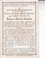 TERKEELEN SINT-TRUIDEN Emilia De FAESTRAETS Baronne De LAMBERTS CORTENBACH 1890 50 Ans Doodsprentje DP - Obituary Notices