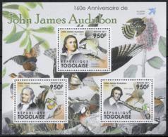 TOGO - OISEAUX - JOHN JAMES AUDUBON - N° 2746 A 2748 ET BF 539 - NEUF** - Oiseaux