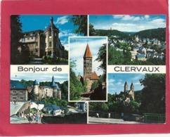 """Cpm. MULTIVUES """" BONJOUR DE CLERVAUX """" CARTE NON ECRITE - Clervaux"""
