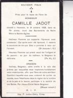 HAVERSIN Camille JADOT 75 Ans 1908 Souvenir Mortuaire - Obituary Notices