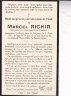 CINEY Marcel RICHIR étudiant Université De Louvain 21 Ans 1921 Souvenir Mortuaire - Obituary Notices