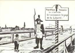 CPM Le Pont De Kehl (reliant La France à L'Allemagne) Pendant La Révolution Française [GR] - Kehl