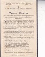 CINEY Paule SIMON 1904-1927 Souvenir Mortuaire - Obituary Notices