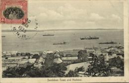 British North Borneo, SABAH SANDAKAN, Town And Harbour (1925) Postcard - Malaysia
