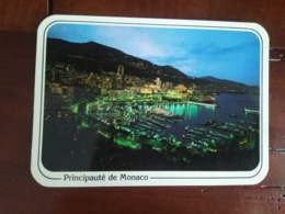 Principauté De Monaco - Le Port Et Monte Carlo La Nuit - Monaco