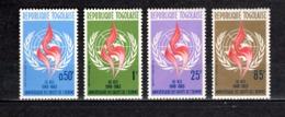 TOGO N° 390 à 393   NEUFS SANS CHARNIERE COTE  3.50€  DROITS DE L'HOMME - Togo (1960-...)