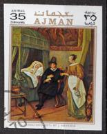 "Ajman 1970 Mi. 712 ""Doctor's Visit"" Quadro Dipinto Da Jan Steen Barrocco Paintings Tableaux Imperf. - Dubai"