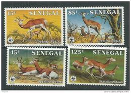 Sénégal N° 661 / 64 XX Protection De La Nature. La Gazelle N'dama, Les 4 Valeurs Sans Charnière, TB - Sénégal (1960-...)