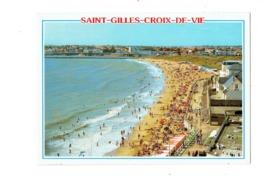Cpm - 85 -  Saint Gilles Croix De Vie - Plage Animation Jeu D'échecs Pions - Saint Gilles Croix De Vie
