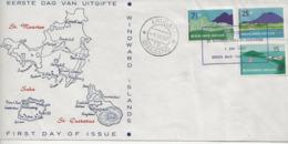 Série Touristique-FDC 1957. - Curaçao, Antille Olandesi, Aruba
