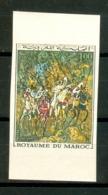 MOROCCO MAROC MAROKKO PEINTURE MAROCAINE. LA FANTASIA DE HARAM GLAOUI N.DENTELÉ - Maroc (1956-...)