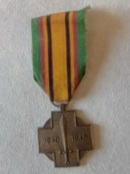 BELGIQUE : MÉDAILLE COMMÉMORATIVE 1940-1945 - Belgique