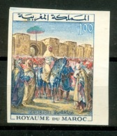 MOROCCO MAROC MAROKKO 3 E ANNIV DU COURONNEMENT DU ROI HASSAN II 1964 N.DENTELÉ - Maroc (1956-...)