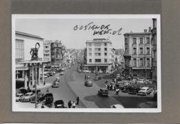OOSTENDE : -1955-LANGESTRAAT EN VAN ISEGHEMLAAN -GEEN POSTKAART-MAAR MOEDERFOTO VAN 15CM OP 9,50 CM-MAISON ERN,THILL - Oostende