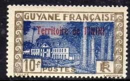 Inini N° 27/ 28   XX Timbres De Guyane Surchargé :  Les 2 Valeurs Sans Charnière, Gomme Coloniale Sinon  TB - Inini (1932-1947)