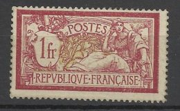 France N°121b Centre Déplacé   Merson 1F Lie De Vin Et Olive    Neuf * *  TB- MNH  VF       à  Moins De 15 % ! ! ! - France