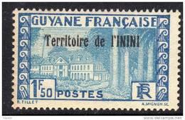 Inini N° 21  XX Timbres De Guyane Surchargé : 1 F. 50  Bleu Et Bleu Clair Sans Charnière TB - Inini (1932-1947)