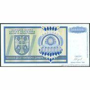 TWN - BOSNIA-HERZEGOVINA 144a - 10000000 10.000.000 Dinara 1993 Prefix AA UNC - Bosnia Erzegovina