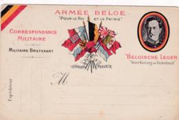 Carte-Lettre Militaire Armée Belge-Militaire Briefkaart Belgische Leger - Oorlog 1914-18