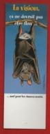 #81#   CODE ROUSSEAU : CHAUVE SOURIS * SECURITE ROUTIERE *  - MARQUE PAGE - Marque-Pages