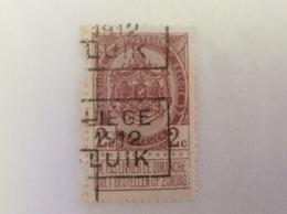 OCB Nr 82 OCVB 1953C Liege 1912 Luik - Roulettes 1910-19