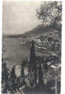 Cpsm Format Cpa. LA PRINCIPAUTE DE MONACO .2178. LA PRINCIPAUTE VUE DE ROQUEBRUNE . AFFR LE 1 IV 1943 . 2 SCANES - Monaco