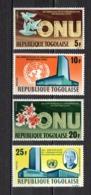 TOGO N° 471 à 474  NEUFS SANS CHARNIERE COTE  2.50€ ONU  NATIONS UNIES - Togo (1960-...)