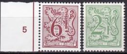 1981, Belgien, 2050+71,  MNH **, Neuer Heraldischer Löwe. - Belgien