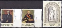 1981, Belgien, 2053/55,  MNH **, 150 Jahre Dynastie Und Parlament. - Belgien