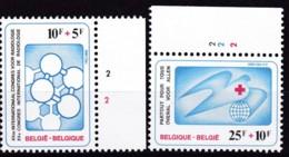 1981, Belgien, 2056/57,  MNH **,  Rotes Kreuz - Belgien